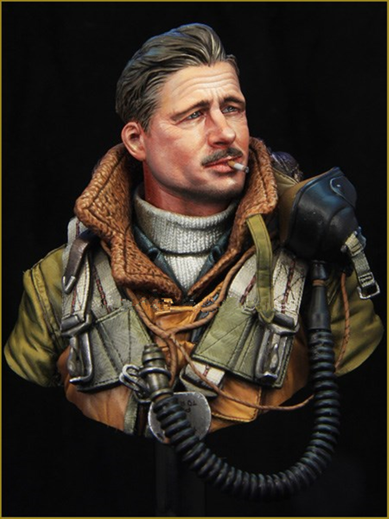 1/10 Resin Bust Model Kit WWII Movie Captain Winster Unpainted X03