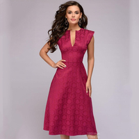 Popular Elegant women Autumn dress sleeveless deep V-neck sexy nightclub party dress female Knee-Length solid vestidos