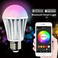 Luz mágica Bluetooth ios Smartphone Android Controlado Inteligente Lâmpada LED Pode Ser Escurecido Multicoloridas Mudança Da Cor Luzes LED
