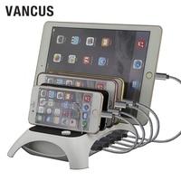 VANCUS 5 USB Snelle Laadstation Stand 60 W 5 V 12A Dock Cradle Quick Charger Desktop voor iPhone, iPad, tabletten en anderen