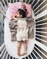 100*130 СМ Новый малыш постельные принадлежности Трикотажные одеяло Wrap Мягкие одеяла Новорожденных большой Уха кролика ребенка пеленать