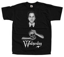 De Addams Familie Woensdag Movie Poster Homme Grappige T-shirts Hip Hop Kleding T Shirts Gym Koning T-Shirt Merk(China)