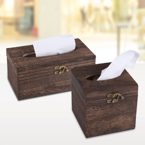 Mooie Houten Box.Us 5 8 Tissue Box Hoogwaardig Vintage Verbrand Houten Lade Box Bar Restaurant Chinese Mooie Servethouder Case Rechthoek Vierkante In Tissue Box