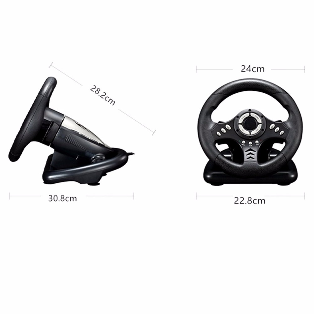 gaming wheels PC Playing Game Steering Wheel 18S Vibration Racing Computer Games Steering Wheel Drive Adjust controller wheels learning driving skills generation computer racing games steering wheel motor racing steering wheel vibration with handbrake