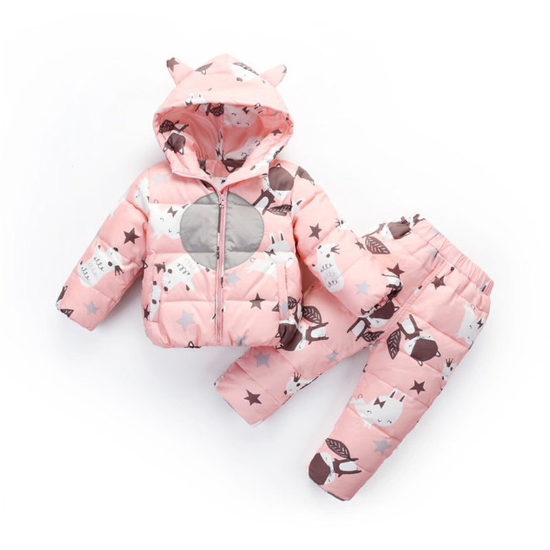-30 Russian Winter Snowsuit 2018 Boy Baby Jacket 80% Duck Down Outdoor Infant Clothes Girls Climbing For Boys Kids Jumpsuit 1~3T