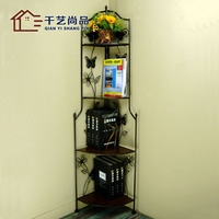 Iron rack four shelves tripod bathroom shelf storage rack corner shelves a special offer