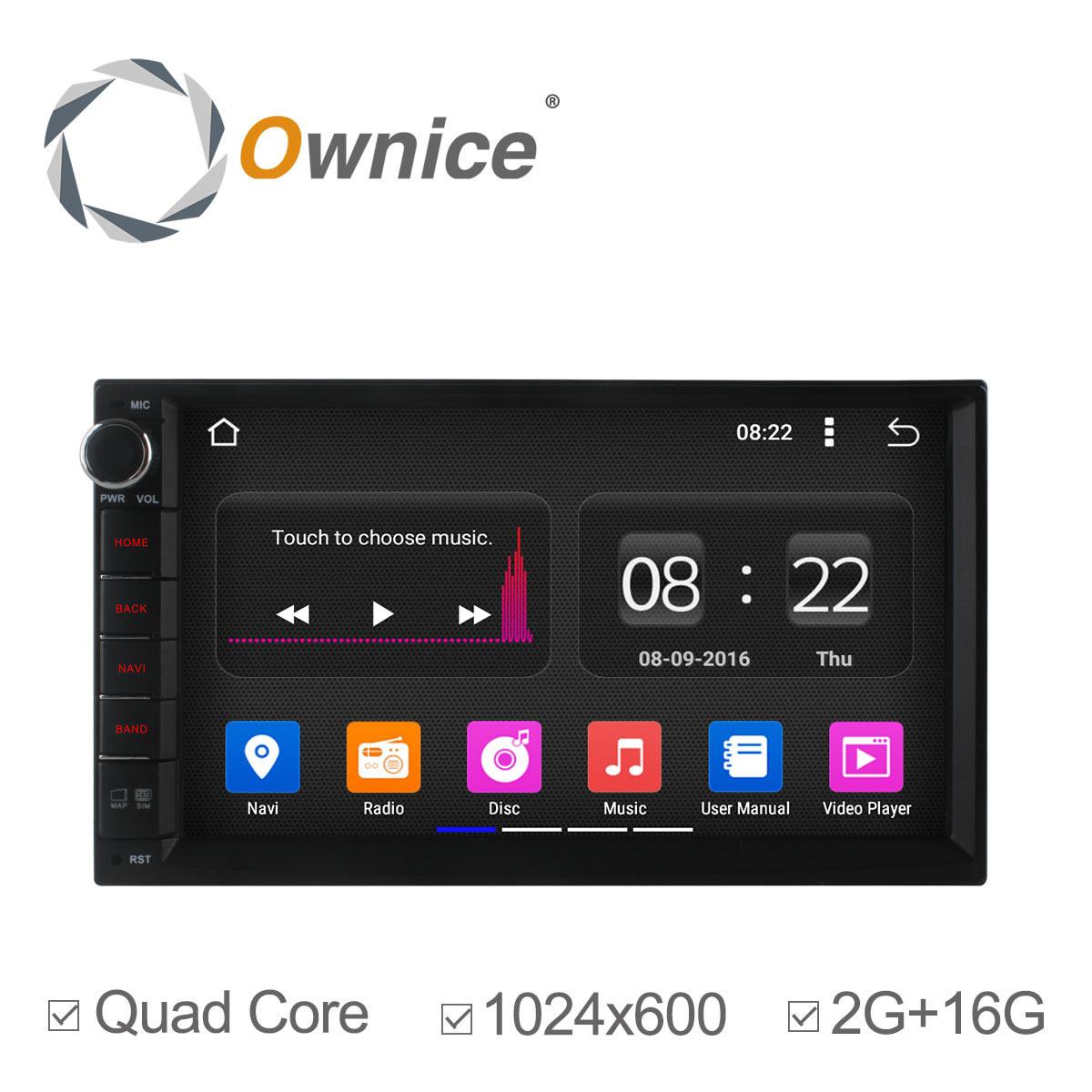 imágenes para Ownice 2 din android 5.1 de cuatro núcleos universal car radio dvd gps Navi 2G ram/16G rom Bluetooth de la Ayuda 3G DVR Cámara wifi no dvd