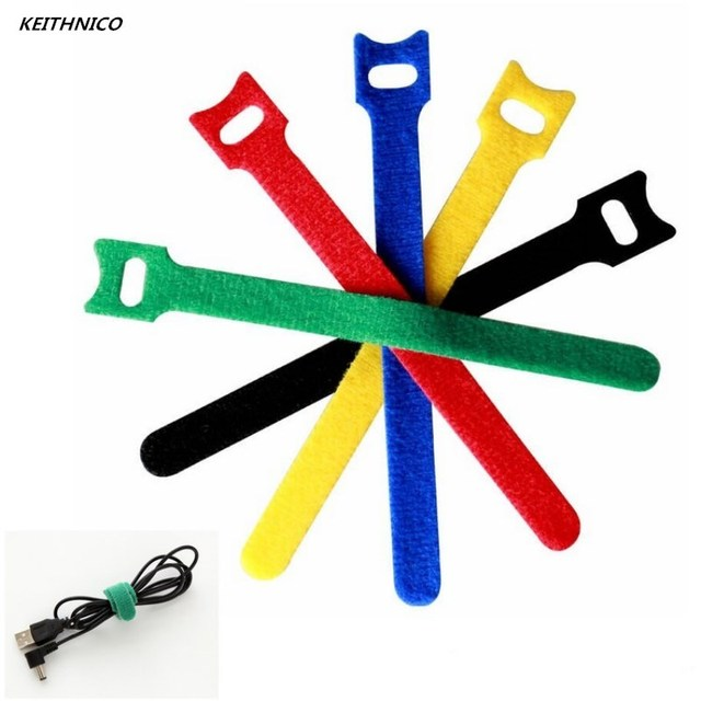 20Pcs TV Computer Wire Cable Winder Ties Organizer Maker Holder Cord Management Straps magic tape 12*150mm