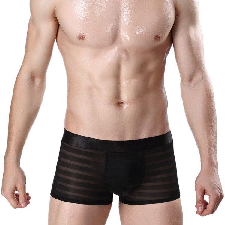 Men's Underwear Jacquard Ice Flat Corner Underwear Sexy Men's Underwear boxer men 2019