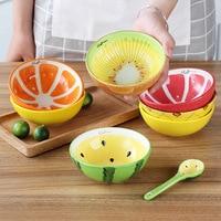 1 unids 5 pulgadas estilo fruta de cerámica sopa de arroz tazón cena Vajilla creativos niños ensalada snacks Vajilla