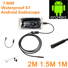 Endoscope Camera 7mm Flexible IP67 Waterproof Inspection USB for Android PC Notebook Leds Adjustable