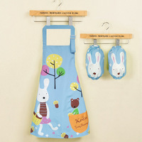 New Apron For Children Cute Child Kids With Pocket Waterproof Kitchen Baking Painting Cooking Family Fitted