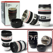 Free shipping by DHL/FEDEX/Wholesale!EF 24-105mm lockable/flat lid camera lens mug