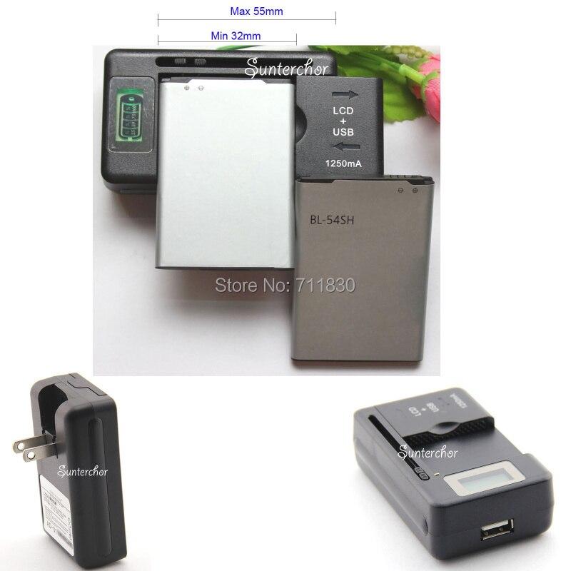 2 X BL-54SH Battery 2540mAh + 1 X USB Battery Charger For LG G3 Beat Mini D722 D725 D728 D729 L80 D373 Mobile Phone Batteries