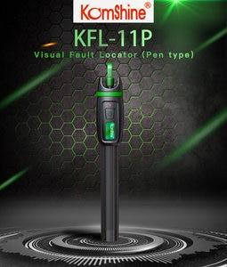 Image 3 - 30KM Testing range Pen type Optic Fiber Visual Fault Locator 30mW Komshine KFL 11P 30 Fiber Optic Laser aluminum alloy material