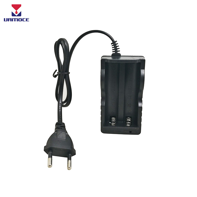 2 Slots 18650 Battery Charger Vape Electronic Cigarette Quick Charger AC 110V 220V Charging with Cable