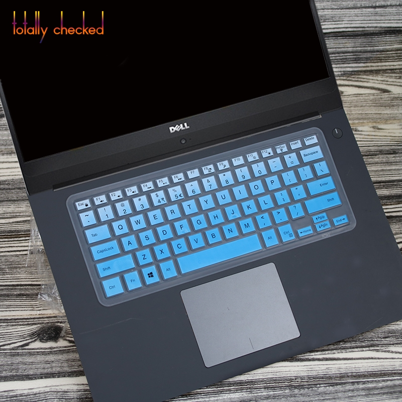 Saco Chiclet Keyboard Skin for Dell Vostro 3546 15.6-inch Laptop/ Transparent