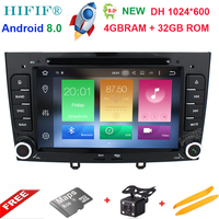 IPS 8 Core Android 8.0 OS Special Car DVD for Peugeot 408 2010 2011 & Peugeot 308 I (T7) 2008 2011 with 1024*600 Resolution