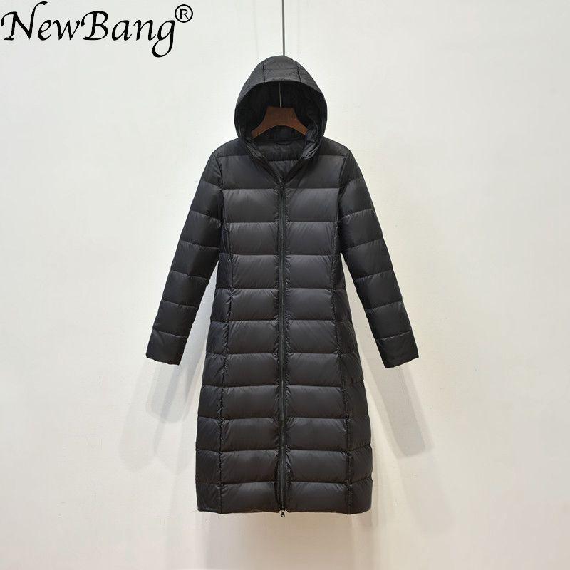 NewBang Brand Women Long Down Coat Female Lightweight Duck Down Jacket For Women Feathers Coat Winter Windbreaker Warm Parka