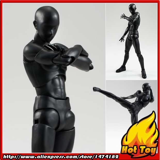 100% Original BANDAI Tamashii Nations S.H.Figuarts (SHF) Action Figure - Body-kun (Solid black Color Ver.) shfiguarts pvc body kun body chan body chan body kun grey color ver black action figure collectible model toy