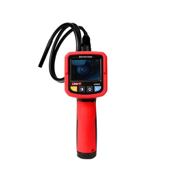 UNI T UT665 ręczny przemysłowy boroskop profesjonalny endoskop inspekcja pojazdu inspekcja rurociągu z Waterpr