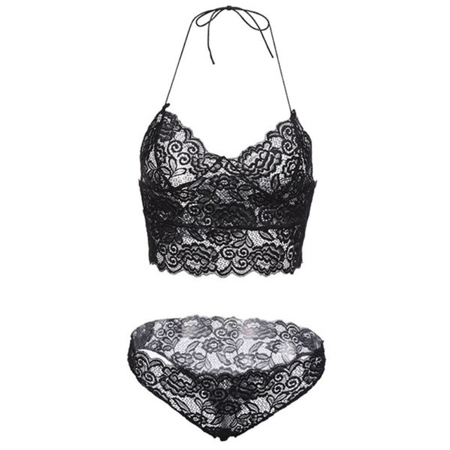 Lace Bralette with Matching Panty 2