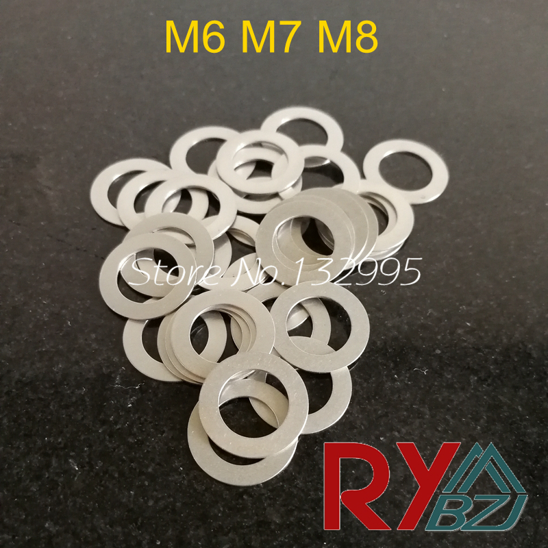 Stainless Steel Flat Washer Ultrathin Gasket Ultra-thin Shim M6 M7 M8 Thickness 0.1 0.2 0.3 0.5 1