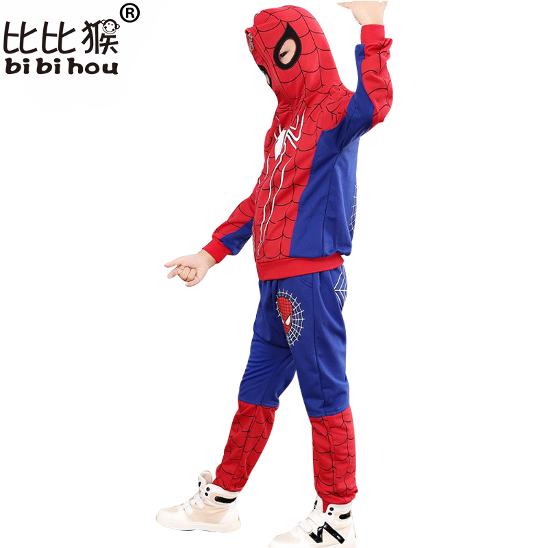 Bibihou Spiderman Baby Boys Clothing Sets Cotton Sport Suit For Boys Clothes Spring Spider Man Cosplay Costumes Kids Clothes Set 2 piece set new sport suit for boys cotton baby boy clothing sets hooded kids clothes set long suit boys clothes tracksuit tz001