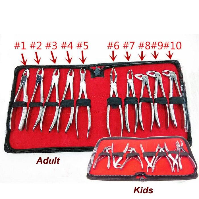 Dentagra dental pinça dental terno adulto & crianças, crianças dente pinça conjuntos de instrumentos dentagra incluem pós alicates