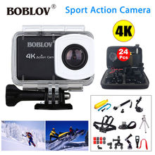 Boblov B1 4K 12MP HD 1080P 2.45″ LCD Screen WIFI Sportss DVR Vision Camcorder Action Camera Waterproof+24in1 Accessories Kits