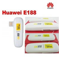 Лот 50 шт. разблокирована Huawei E188 usb модем Белый Новый, доставка DHL