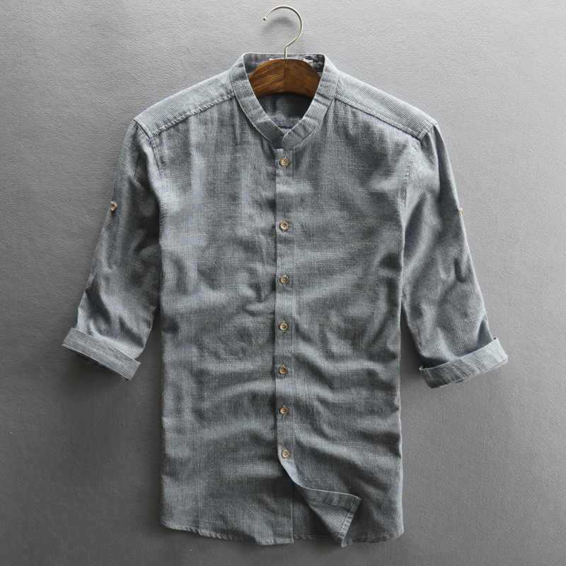 3115602b8d 2018 Mens Half Sleeve Casual Shirts Cotton Linen Material Cool Short Sleeved  Shirt Slim Fit Hemp