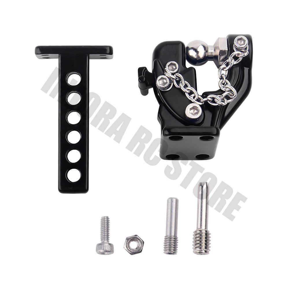 1PCS Metalen Trekhaak Drop Hitch Ontvanger RC Crawler Auto voor 1/10 Traxxas TRX-4 Axiale SCX10 90046 90047