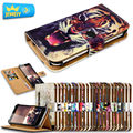 Impresso casos de couro do telefone para lg joy h220/lg joy lte caso universal da aleta capa carteira stand case para lg telefone tamanho pequeno