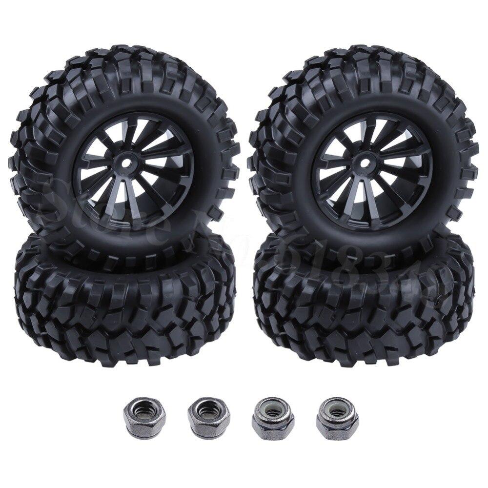 4pcs/lot 1.9 Tires 96mm Wheel 12mm Hex Hub For RC 1:10 Rock Climbing Crawler Car Tamiya HSP HPI AXIAL SCX10 Exceed 4pcs aluminum alloy 52 26mm tire hub wheel rim for 1 10 rc on road run flat car hsp hpi traxxas tamiya kyosho 1 10 drift parts