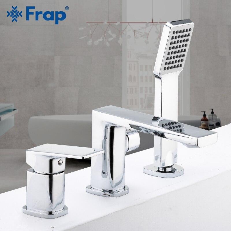 Frap Bathtub Faucets Shower Mixer Set Faucet 3-piece Split Chrome Bath Tub Shower Water mixer Faucet taps Robinet Banheira F1146