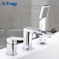 Frap Bathtub Faucets Shower Mixer Set Faucet 3 piece Split Chrome Bath Tub Shower Water mixer Faucet taps Robinet Banheira F1146