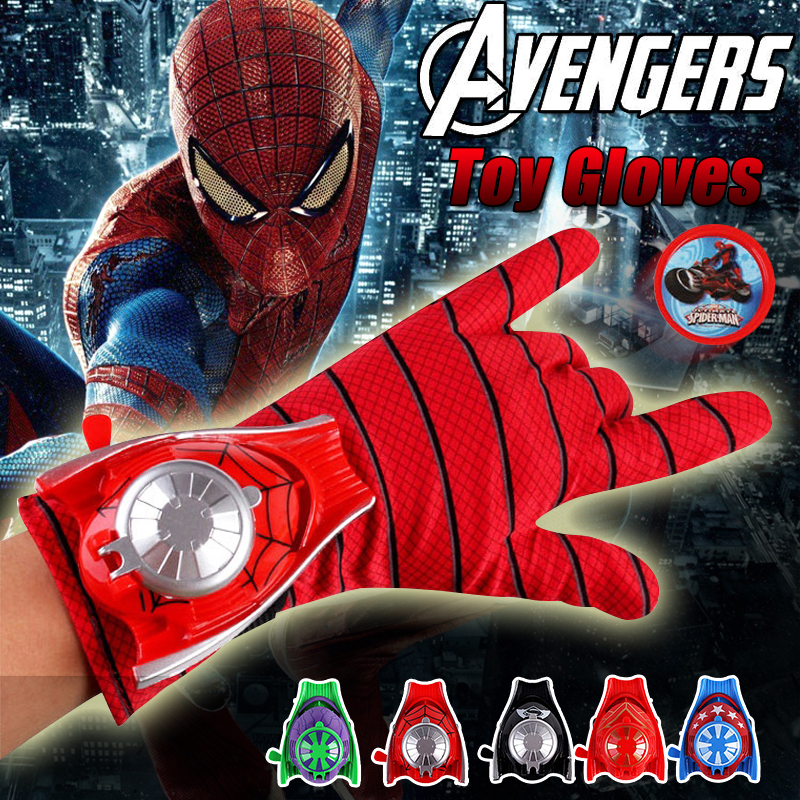 Marvels The Avengers Toy Gloves Marvel Hero Toy Gun Outdoor Fun Sports Airsoft Pistol Christmas Gift Kid Airsoft Air Guns