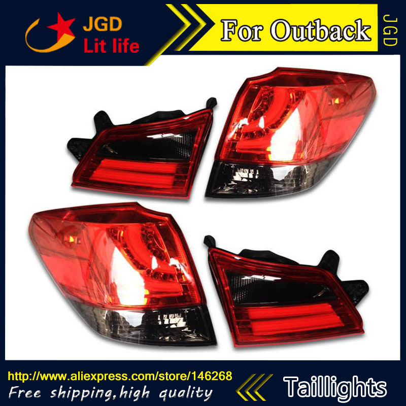 Car Styling tail lights for Subaru Outback 2010-2014 LED Tail Lamp rear trunk lamp cover drl+signal+brake+reverse car styling tail lights for toyota gt86 led tail lamp rear trunk lamp cover drl signal brake reverse