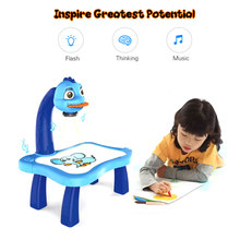 Intellectual Children Painting Board Table Art Desk Easel Music Lantern Slides Color Pens Drawing Book Perfect Gift for Kids(China)