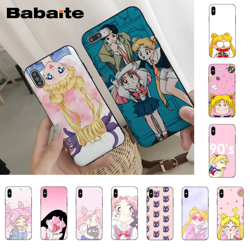 Phone Bags & Cases Babaite Girl Pink Series Super Cute Sailor Moon Mobile Shell Phone Case Cover For Iphone 8 7 6 6s Plus X Xs Xr Xsmax 5 5s Se 5c Invigorating Blood Circulation And Stopping Pains