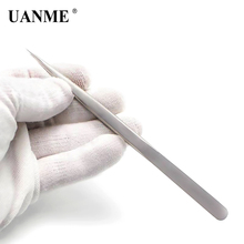 UANME WL-811 140mm Long Tweezers Stainless Steel Electronic Pointed Tip Straight Tweezer Forceps стоимость