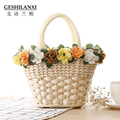 2017 new fashion spring and summer lovely fairy straw bag sweet little basket bag Holiday beach bag Natural linen bag