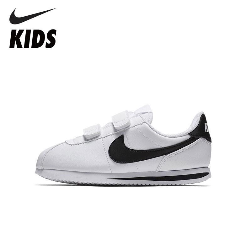 Nike crianças oficial cortez básico sl criança meninos e meninas crianças tênis de corrida confortáveis 904767