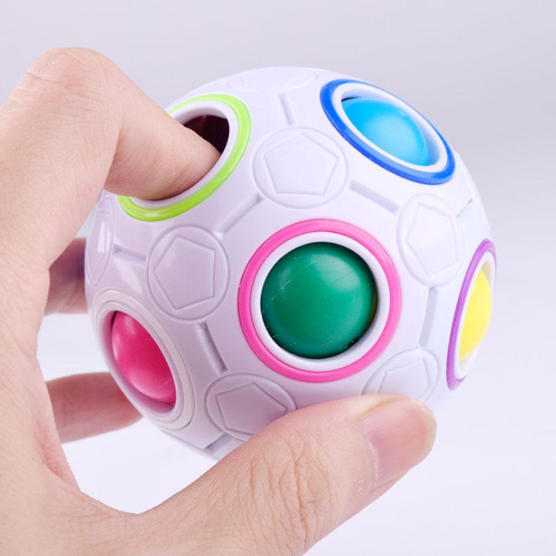 Creative Spherical Magic Speed Cube Rainbow Puzzles Ball Football Funny Montessori rubik ...