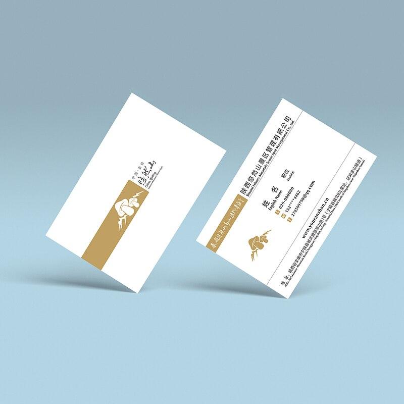 200 pcs  lot custom logo coated paper business card paper