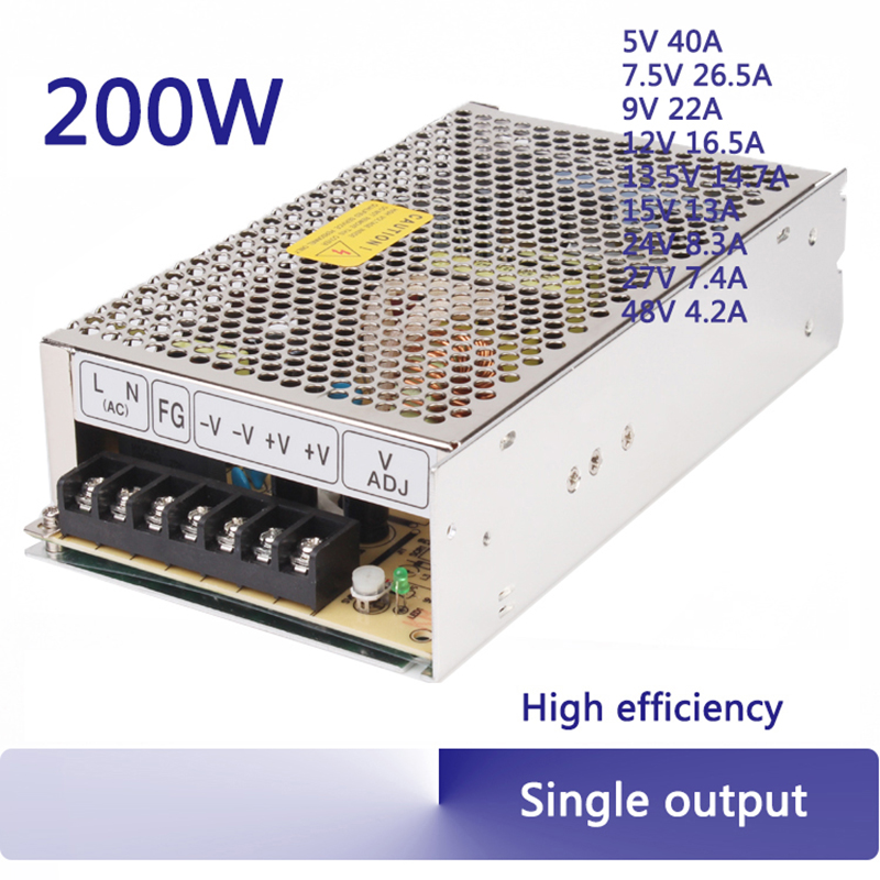 ac 110v/220v to dc 5v 7.5v 9v 12v 13.5v 15v 24v 27v 48v switching power supply ac-dc power transformer cctv S-200 meanwell 12v 350w ul certificated nes series switching power supply 85 264v ac to 12v dc