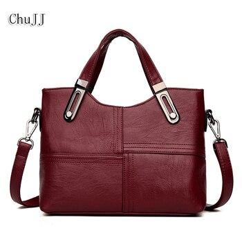 39a1e5c557d9 Chu JJ модные женские туфли натуральная кожаные сумочки OL стиль сумка дамы сумки  на плечо лоскутное для женщин курьерские Сумки Оптовая прода.