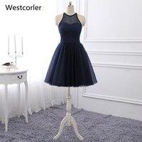 Vestido cruto 2018 Лидер продаж реальное изображение Темно синие Homecoming платье Короткое Выпускные платья ручной Бисер Vestidos De Graduacion