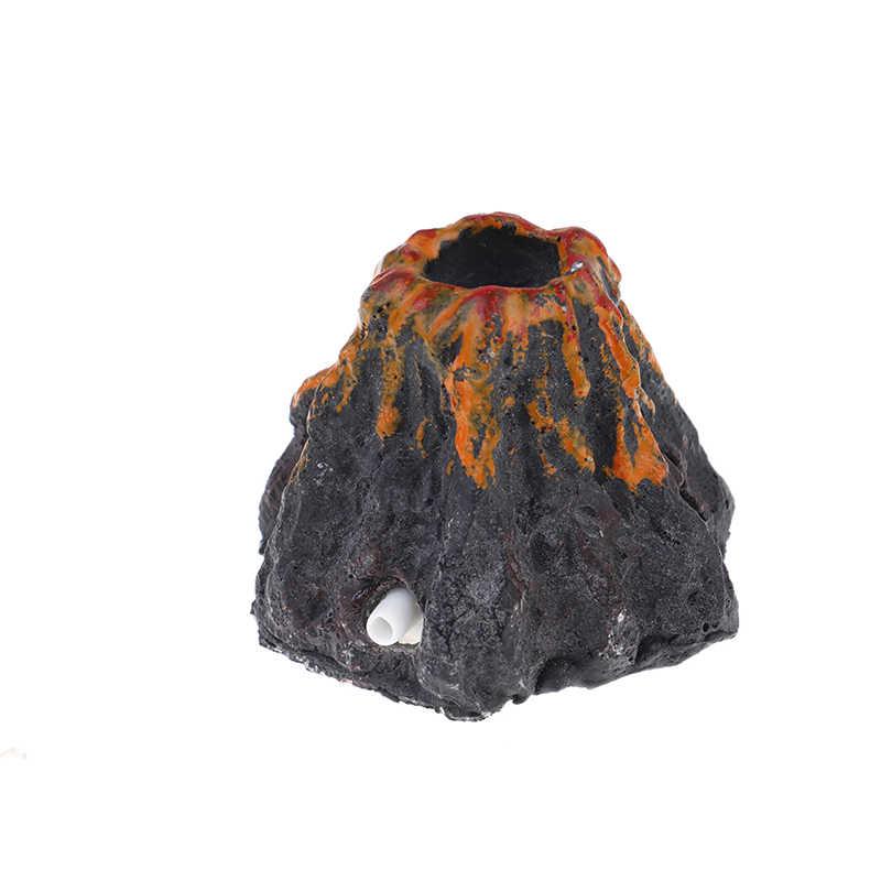 Nueva forma de volcán de Acuario y piedra de burbuja de aire bomba de oxígeno peces tanque decoración de Adorno